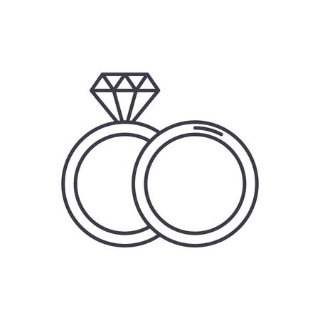 Espousal line icon concept. Espousal vector linear illustration, sign, symbol