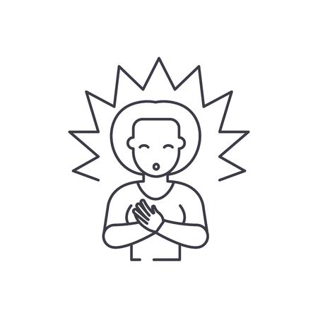 Enlightenment line icon concept. Enlightenment vector linear illustration, sign, symbol