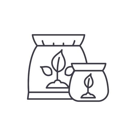 Fertilizer line icon concept. Fertilizer vector linear illustration, sign, symbol