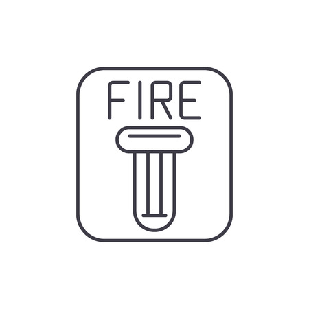 Fire safety line icon concept. Fire safety vector linear illustration, sign, symbol