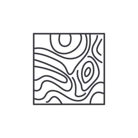 Floorboard line icon concept. Floorboard vector linear illustration, sign, symbol Imagens - 127493649