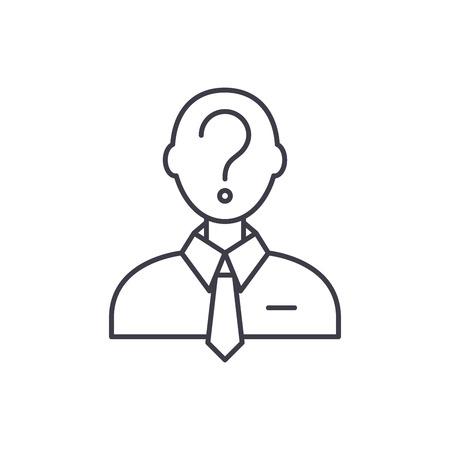 Formulation of the problem line icon concept. Formulation of the problem vector linear illustration, sign, symbol Stock Illustratie