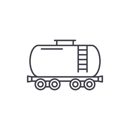 Fuel tank line icon concept. Fuel tank vector linear illustration, sign, symbol