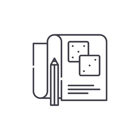 Game account line icon concept. Game account vector linear illustration, sign, symbol