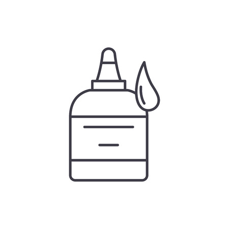 Glue line icon concept. Glue vector linear illustration, sign, symbol