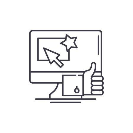 Great choice line icon concept. Great choice vector linear illustration, sign, symbol