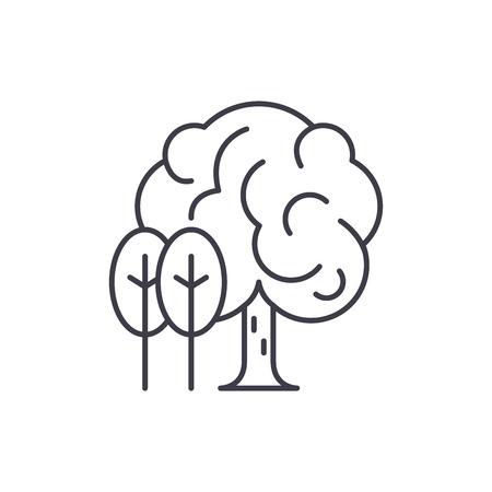 Grove line icon concept. Grove vector linear illustration, sign, symbol Ilustrace