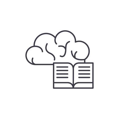 Intellectual information line icon concept. Intellectual information vector linear illustration, sign, symbol