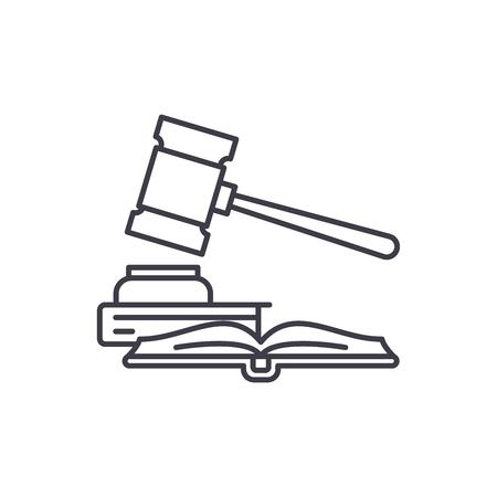 Concepto de icono de línea de propiedad intelectual. Propiedad intelectual vector Ilustración lineal, signo, símbolo