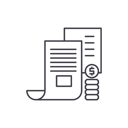 Investor memorandum line icon concept. Investor memorandum vector linear illustration, sign, symbol