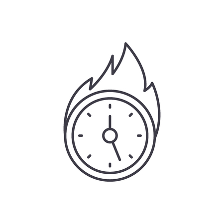 Lack of time line icon concept. Lack of time vector linear illustration, sign, symbol