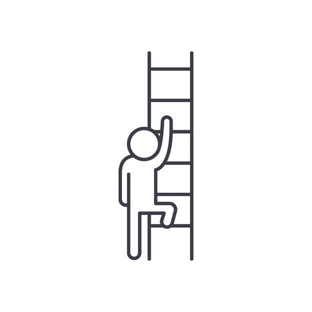 Ladder of opportunity line icon concept. Ladder of opportunity vector linear illustration, sign, symbol