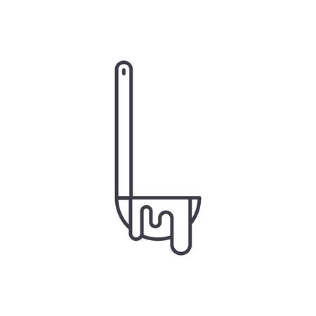 Ladle line icon concept. Ladle vector linear illustration, sign, symbol Stockfoto - 127493831