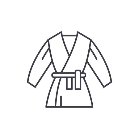 Kimono line icon concept. Kimono vector linear illustration, sign, symbol