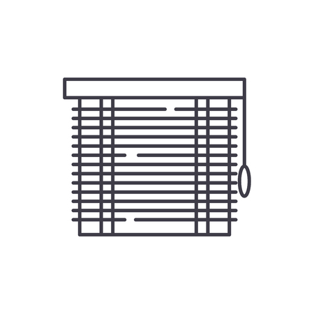 Jalousie line icon concept. Jalousie vector linear illustration, sign, symbol