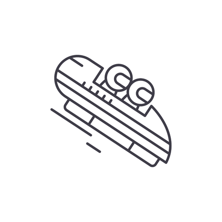 Luge line icon concept. Luge vector linear illustration, sign, symbol
