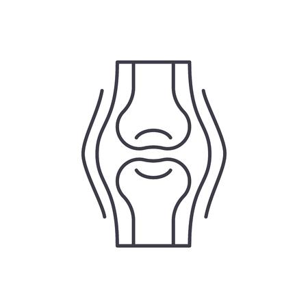 Joints line icon concept. Joints vector linear illustration, sign, symbol Standard-Bild - 127493880