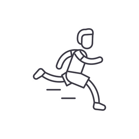 Marathon line icon concept. Marathon vector linear illustration, sign, symbol