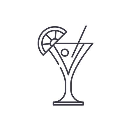 Martini line icon concept. Martini vector linear illustration, sign, symbol