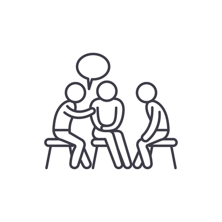 Mentorship line icon concept. Mentorship vector linear illustration, sign, symbol