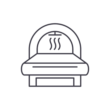 Mri line icon concept. Mri vector linear illustration, sign, symbol