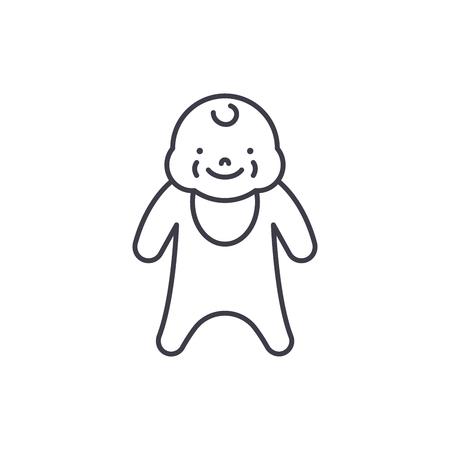 Newborn line icon concept. Newborn vector linear illustration, sign, symbol