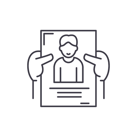 Personnel management line icon concept. Personnel management vector linear illustration, sign, symbol