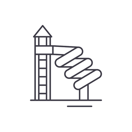 Playground line icon concept. Playground vector linear illustration, sign, symbol
