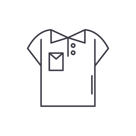 Polo line icon concept. Polo vector linear illustration, sign, symbol