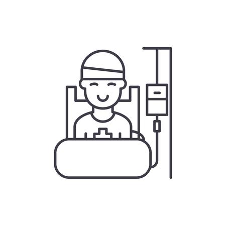 Concepto de icono de línea de período operativo. Período operativo vector Ilustración lineal, signo, símbolo
