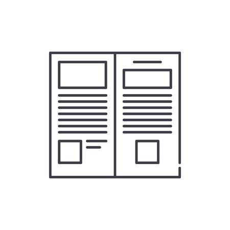 Press release line icon concept. Press release vector linear illustration, sign, symbol