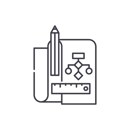 Refactoring line icon concept. Refactoring vector linear illustration, sign, symbol