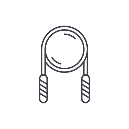 Rolling pin line icon concept. Rolling pin vector linear illustration, sign, symbol
