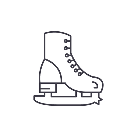 Skates line icon concept. Skates vector linear illustration, sign, symbol