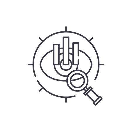 Strategic vision line icon concept. Strategic vision vector linear illustration, sign, symbol Foto de archivo - 112421221