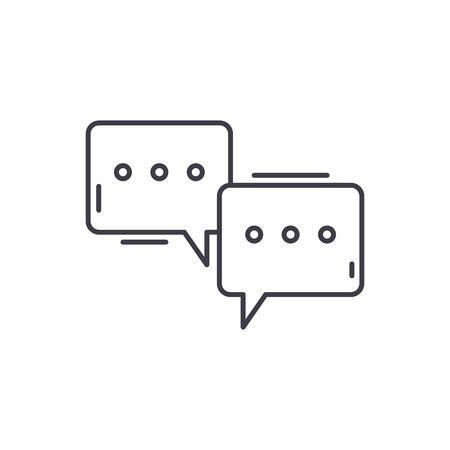 Symposium line icon concept. Symposium vector linear illustration, sign, symbol