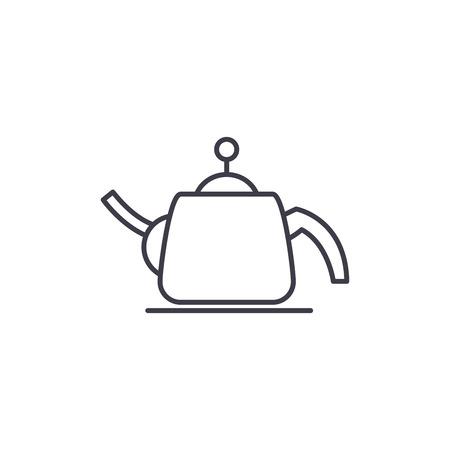 Teapot line icon concept. Teapot vector linear illustration, sign, symbol