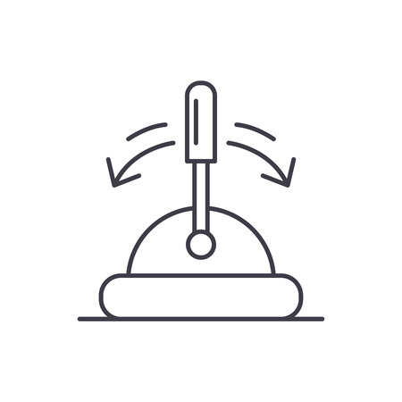 Toggle switch line icon concept. Toggle switch vector linear illustration, sign, symbol