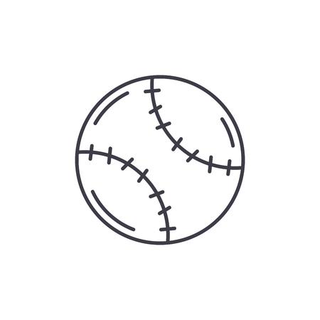 Tennis ball line icon concept. Tennis ball vector linear illustration, sign, symbol