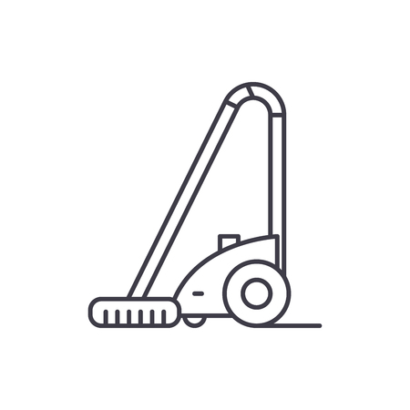 Vacuum cleaner line icon concept. Vacuum cleaner vector linear illustration, sign, symbol Illustration