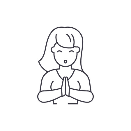 Vulnerability line icon concept. Vulnerability vector linear illustration, sign, symbol 版權商用圖片 - 112695221