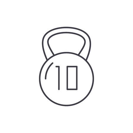 Weight line icon concept. Weight vector linear illustration, sign, symbol