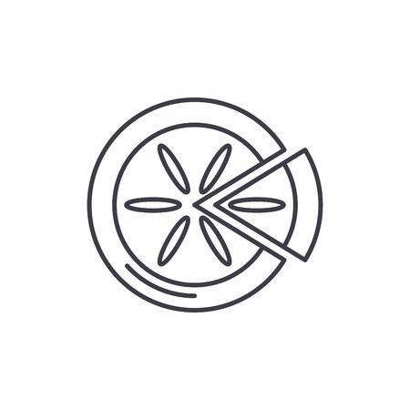 Winter cake line icon concept. Winter cake vector linear illustration, sign, symbol