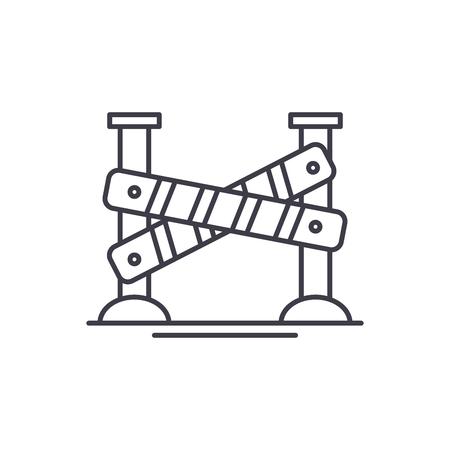Construction is underway line icon concept. Construction is underway vector linear illustration, sign, symbol