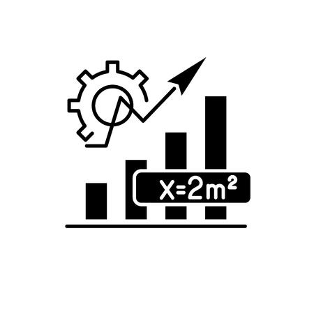 Mathematics formula black icon, concept vector sign on isolated background. Mathematics formula illustration, symbol