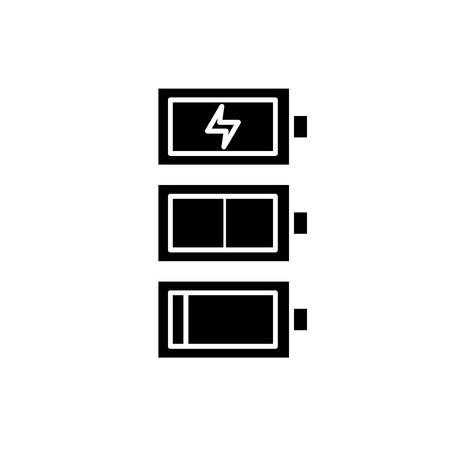 Recharge black icon, concept vector sign on isolated background. Recharge illustration, symbol Standard-Bild - 127290292