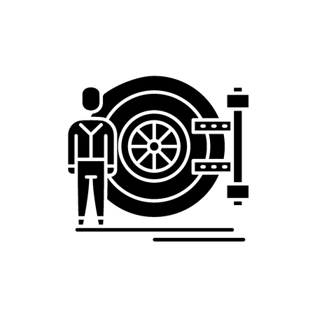 Bank safe black icon, concept vector sign on isolated background. Bank safe illustration, symbol