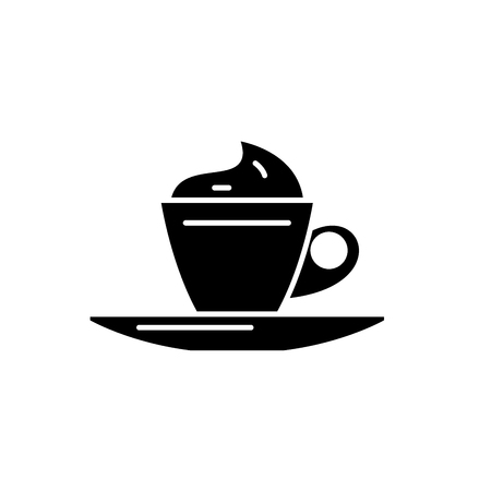 Mokachino black icon, concept vector sign on isolated background. Mokachino illustration, symbol