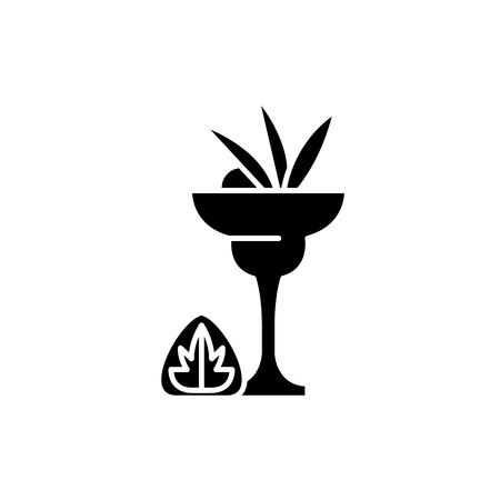 Liquor black icon, concept vector sign on isolated background. Liquor illustration, symbol Illustration