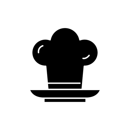 Cooker black icon, concept vector sign on isolated background. Cooker illustration, symbol Illustration